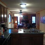 kitchen/dining/living space