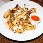 Most amazing fries with trotter gravy, queso oaxaqueno, fresno salsa