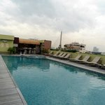 the rooftop swimming pool