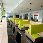 Loungebereich mit Dinerbänke
