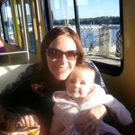 On the boat to the Magic Kingdom