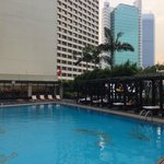 Hotel outdoor pool area
