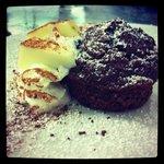 Muffin con cuore di mela e cannella
