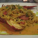 Lobster fettucine
