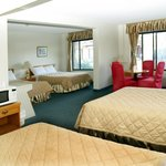 This non-smoking  larger unit has 2 queen beds & 2 double beds for up to 8 persons, an economic