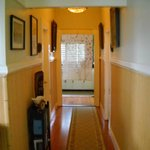 common hallway looking to the kitchen