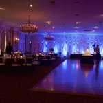 Portion of reception space in large ballroom