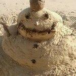 sand snow man