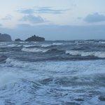Stormy surf off of Hobuck Beach