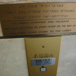 Elevator operation is different during Shabbat.