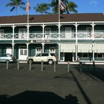 View of the Pioneer Inn from the Lahaina waterfront