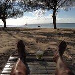 Last afternoon on the beach with caipirinha.