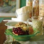 Enjoy seasonal fruits with yoghurt to start your Argyll Breakfast...