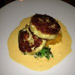 unbelievable crab cakes!!! The sweet potato spinach salad rocks!!!
