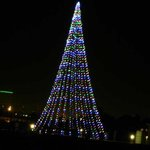 A tree of lights across the bay