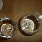 Our wonderful glasses of schnapps! I miss Munich!