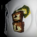 Entrada: sopa paraguaya crocante con queso Paraguay