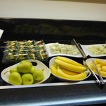 Club Lounge--some of the evening snacks