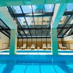 Glass roof indoor pool
