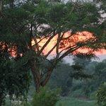 Sonnenuntergang in der Lodge
