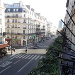 View from the balcony...Rue des Écoles