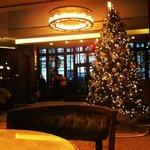 Again, the lobby at Christmas, stunning!