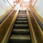 escalier mobile en bois