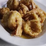 fried prawn stir with salty duck egg