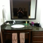 Vanity/sink area.
