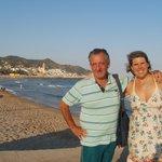 Con el Vasco en las playas de Sitges