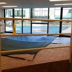 Indoor/outdoor pool (Winter so it's covered)