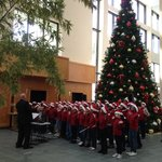 Christmas choir at the hotel main entrance