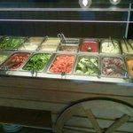 Small salad bar; everything was fresh