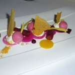 Textures of Beetroot with goats curd