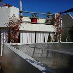 Térasse: Plan supérieur et couverture transparente du patio