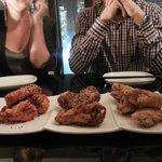 korean fried chicken wings: gochujang, teriyaki, salt & sezchwan pepper