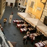 From the room window to Via della Maddalena