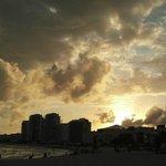 Sunset from the Hyatt Regency Cancun beach