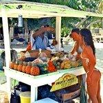 Buying fruit without dressing up