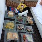 Our delicious beach picnic!