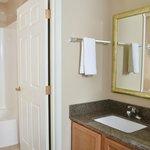 Vanity area in suite
