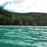 Just off shore looking toward beach