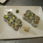 Peanut and Avocado Sushi and Spicy Scallop and Avocado Sushi
