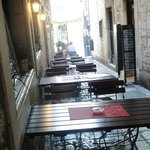 Ferfeto's outdoor seating... off hour
