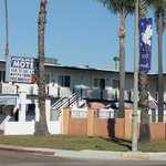 The motel exterior