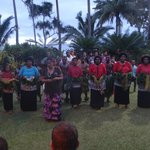 Traditional Ceremony performed by the staff and local fijians