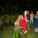 dancing with the children