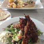 Souvlaki and stuffed chicken yum!!