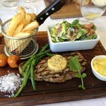 Presentation of the steak