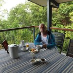 breakfast on the verandah